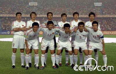 中国足球队全家福(资料图片)