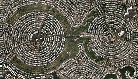 组图:世界5大迷宫城 比诸葛亮八卦村更强图片