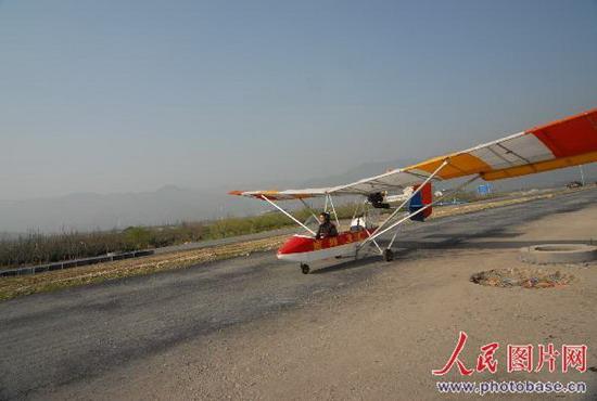 大p在起飞过程中(小蜜蜂3c超轻型飞机)