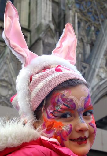 幼儿园自制兔子头饰