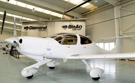 局认证的钻石da40型飞机