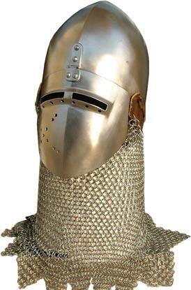 金色中世纪欧洲骑士头盔设计素材免费下载_其