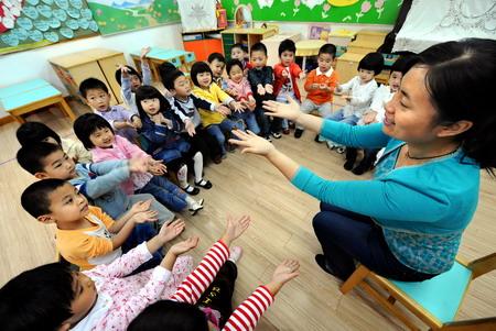 南京创建卫生幼儿园 培养健康好宝宝