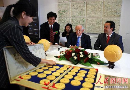 北京 甘肃/7月18日,查泰山一行受邀前往西班牙巴塞罗那...
