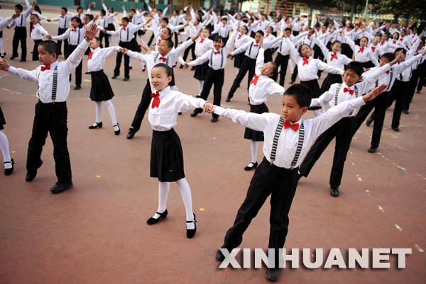 太原市迎泽区举行小学生校园集体舞比赛,来自全区各小学26支