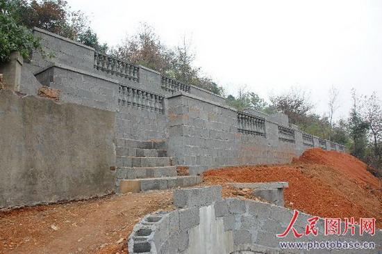 农村墓地围墙设计图