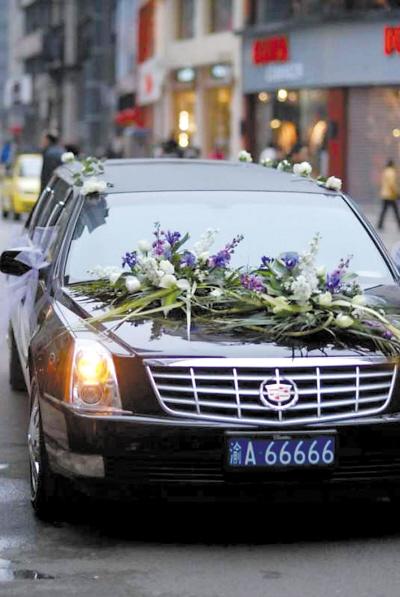 凯迪拉克轿车 重庆最牛车牌遭遇山寨 3部豪车都挂66666高清图片