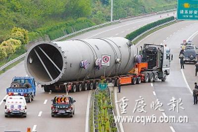 货车的车头跟平常见到的国产货车没太大差异