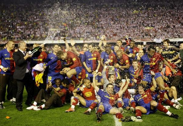 组图:西班牙国王杯+巴萨夺冠