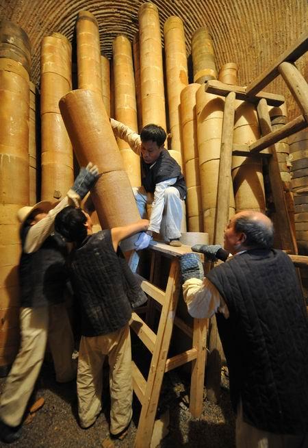 小型柴窑内部结构图