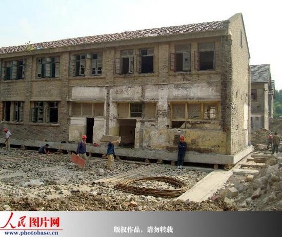 """蘇州五幢控保老房子平移""""搬家"""""""