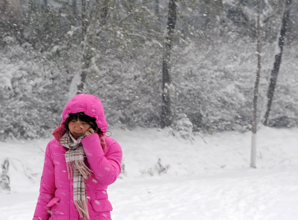 沈阳彩电塔美丽雪景照片