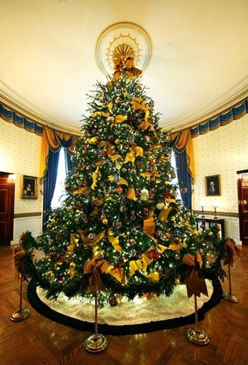 组图:白宫圣诞树挂上毛泽东头像 (2)
