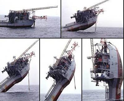 酷!会倒立的美国水下声波探测船