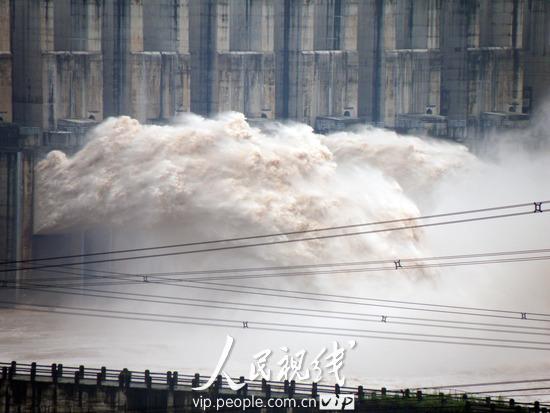 三峡大坝今年首次泄洪三峡电站满负荷v电站(2视频真香降图片