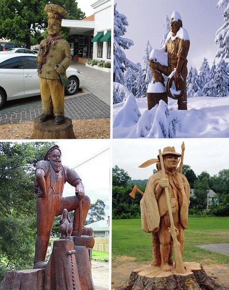 组图:树木雕刻出的艺术品