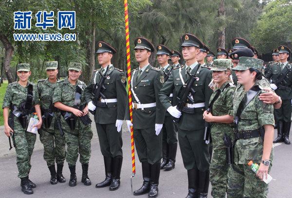 中国三军仪仗队扬威海外